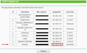 tp-link router clients list